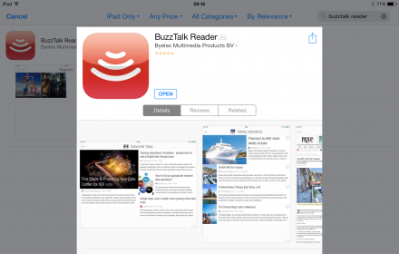 BuzzTalk Reader in app store